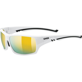 UVEX Sportstyle 222 Pola Occhiali, white/mirror yellow